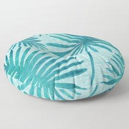 Mid Century Tiki Fronds Floor Pillow