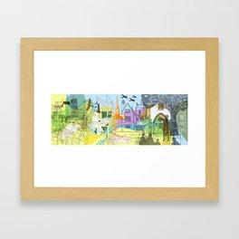 Norwich- City of Stories Framed Art Print