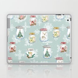 Christmas Jars Mint Laptop & iPad Skin