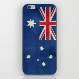The National flag of Australia, retro textured version (authentic scale 1:2) iPhone Skin