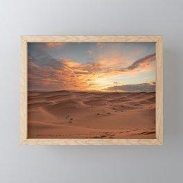 Desert Sunset I - Sahara, Morocco Framed Mini Art Print