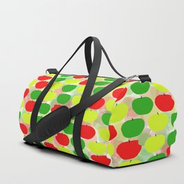 Summer Apple Picking Green, Red and Yellow Duffle Bag
