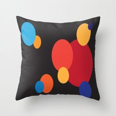 Blowing Bubbles Throw Pillow