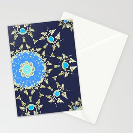 Golden and blue pattern Stationery Cards