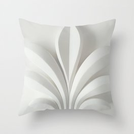 White sculpture Throw Pillow