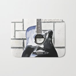 Be Your Song and Rock On in White II Bath Mat