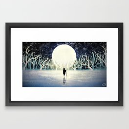 The moon. Framed Art Print