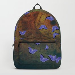 Purple butterflies on mystical mandala Backpack