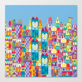 It's A Small World - Theme Park Inspired Canvas Print