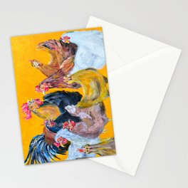 Chickens of Many Colors Stationery Cards