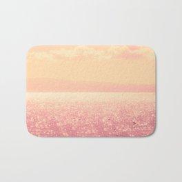 Dreamy Champagne Pink Sparkling Ocean Bath Mat
