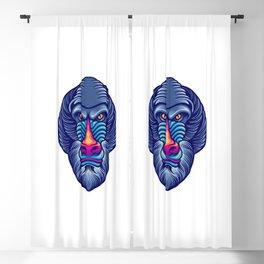 Baboon Head Mascot Blackout Curtain