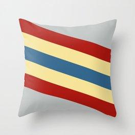 Kali - Colorful Classic Abstract Minimal Retro 70s Style Stripes Design Throw Pillow
