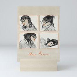 Anna Karina Reading Mini Art Print
