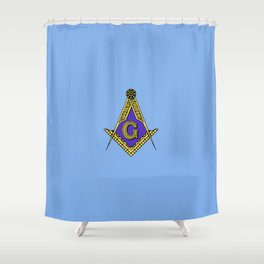 Freemason (Blue) Shower Curtain