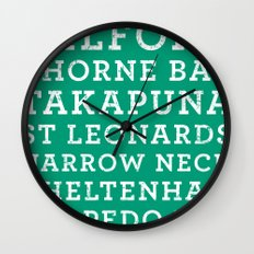 Life's a beach - Emerald Wall Clock