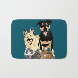 Drogo Bowser Beau and Olli Bath Mat