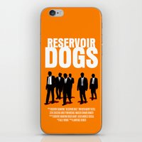 reservoir dogs iPhone & iPod Skins featuring Reservoir Dogs Movie Poster by FunnyFaceArt