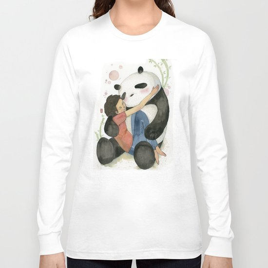 Cuddling with Panda Long Sleeve T-shirt