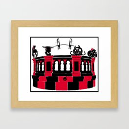 Minotaur in Two Continents Framed Art Print