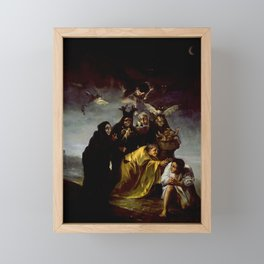 THE WITCHES SPELL - FRANCISCO GOYA Framed Mini Art Print