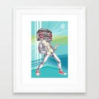 radiohead Framed Art Prints featuring RadioHead by Andrea Fonseca Illustration