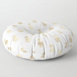 Gold Pineapples Floor Pillow