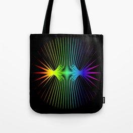 Sound Waves. Neon dark matter wave oscillations Tote Bag