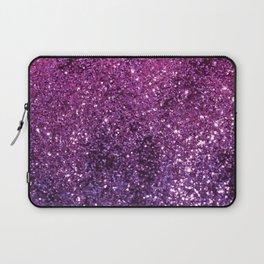 Purple Pink Ombre Lady Glitter #1 #shiny #decor #art #society6 Laptop Sleeve