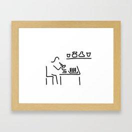 laboratory assistant lab Framed Art Print