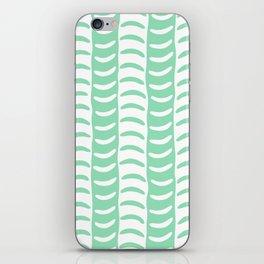 Wavy Stripes Mint Green iPhone Skin