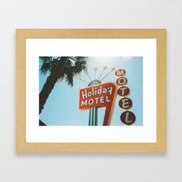 Holiday Motel Vintage Sign Framed Art Print