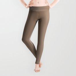Pastel Brown to Brown Vertical Bilinear Gradient Leggings