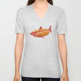 Mustard shark Unisex V-Neck