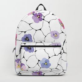 pansies on cracked ground Backpack