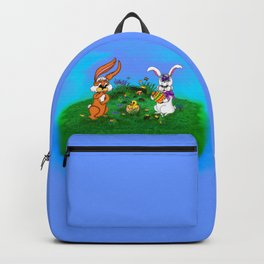 Happy Easter! Rabbit with Bunny and Chick Backpack
