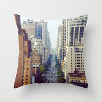 starbucks Throw Pillows featuring Which Starbucks? by Phil Provencio