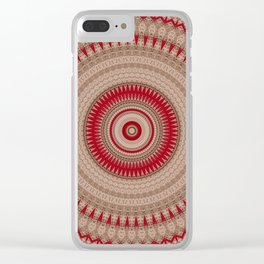 Textured Red Madala Clear iPhone Case
