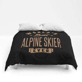Alpine Skier - Funny Job and Hobby Comforters