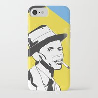 frank sinatra iPhone & iPod Cases featuring Retro Illustration of Frank Sinatra by Eve Weiner