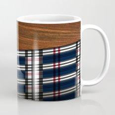 Wooden Scottish Tartan Coffee Mug