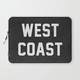 West Coast - black version Laptop Sleeve