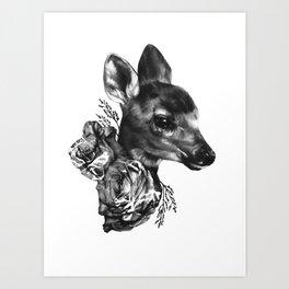 Fawn & Flora I Art Print