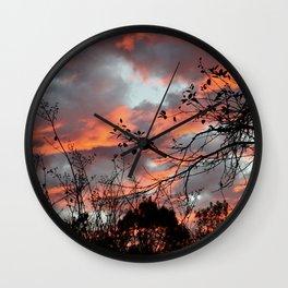 Rose Sky Wall Clock