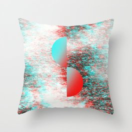 Glitch retro vhs poster 02 Throw Pillow