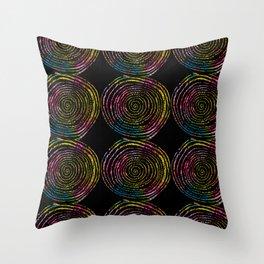 Spirals of Fire Throw Pillow
