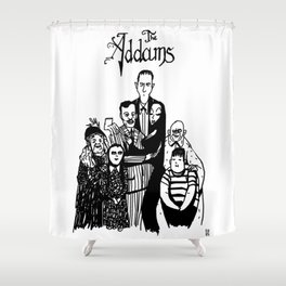 Addams Family Shower Curtain