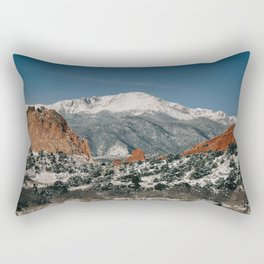 Snowy Mountain Tops Rectangular Pillow