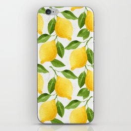 Watercolor Lemons iPhone Skin