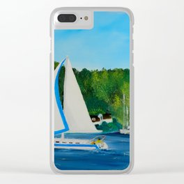 Come Sail Away Clear iPhone Case